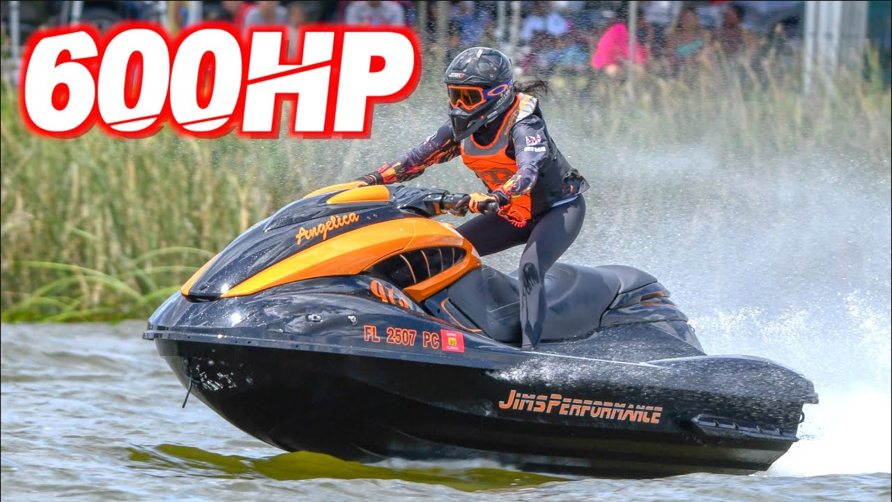 "600HP Supercharged Jetski on 40PSI Pulls 1.7 G-Force ""The Golden Girl"" (Fastest Girl on the Water!)"