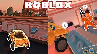 GLITCHING THE ATV INTO THE DONUT SHOP! (Roblox Jailbreak)
