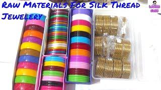 Raw Materials for thread jewelry I Silk Thread tools I Ladies Club I Part - 2