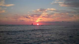 Hawaii Sunset At Waikiki Beach