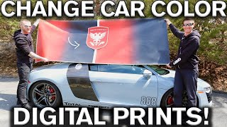 Change Car Color with Digital Prints