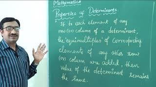 II PUC | Mathematics |  Determinants-12