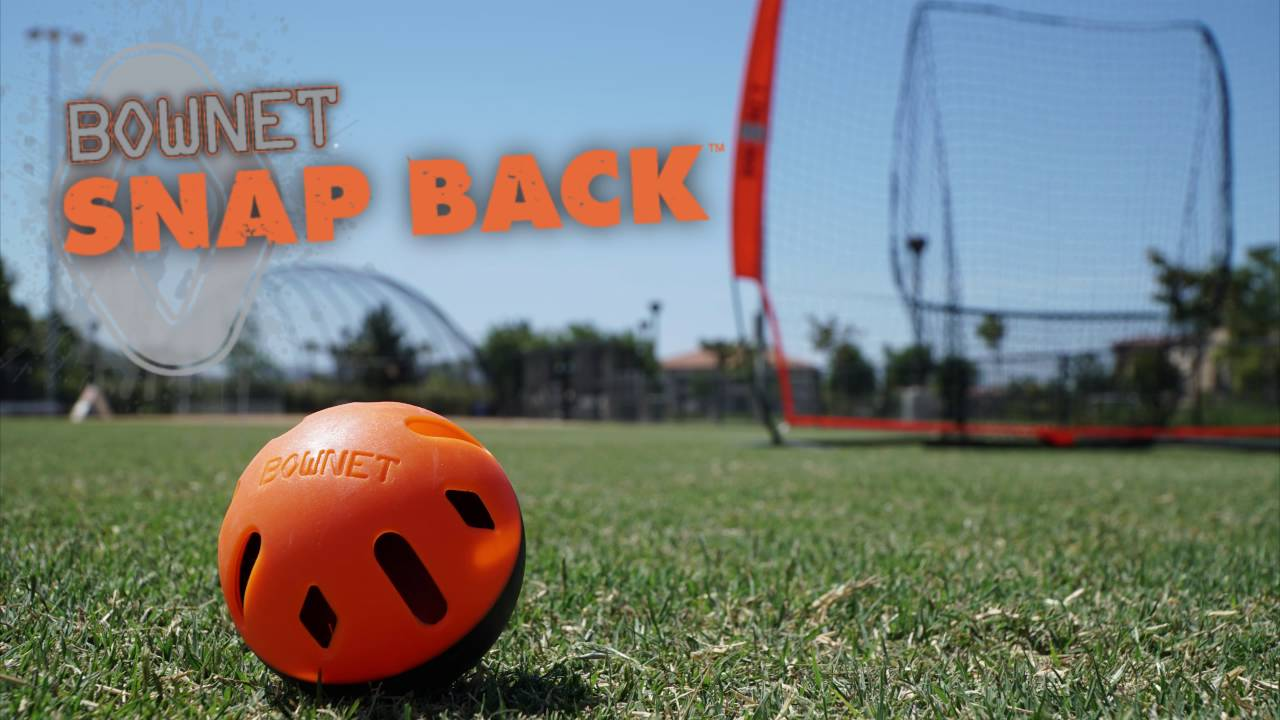 Bownet Snap Back Training Balls Limited Flight Baseball or Softball Training Ball Size Mini