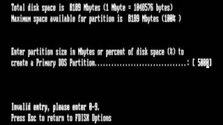 Creating Partition in win98