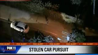 06/19/2016 Los Angeles Area Police Chase 2016 LAPD - Stolen Fiat 500