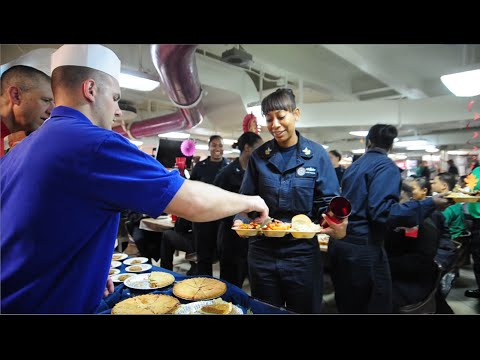 Thanksgiving aboard USS Carl Vinson in the Arabian Gulf