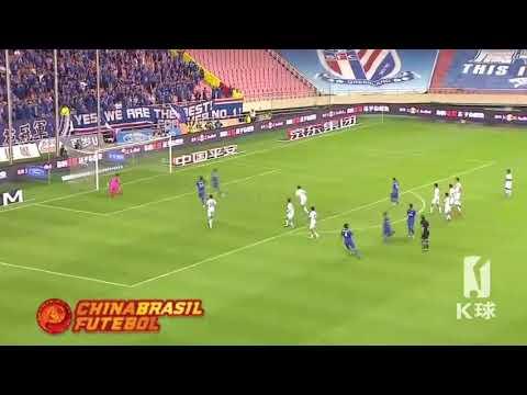 Gol Fredy Guarín - Shanghai Shenhua x Guanzghou R&F - 26a Rodada da Super Liga da China 2017