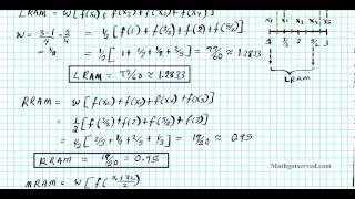 cU5L1b  pt II LRAM MRAM RRAM Rectangular Approximations Left right hand riemann calculus