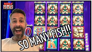 🐟 SO MANY FISH ON DOUBLE BLESSINGS SLOT MACHINE!! HUGE WIN! 🐟