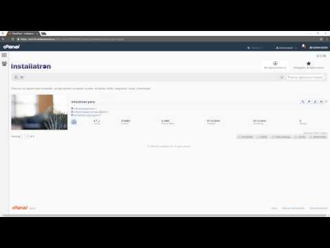 Instalar WordPress con Installatron en cPanel