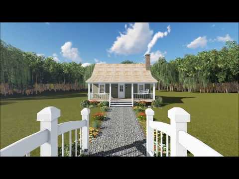 Cozy One-Bedroom Cottage from The Plan Collection (#141-1140)