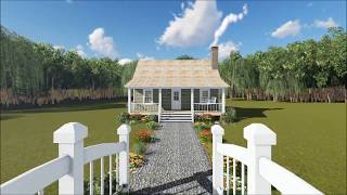 Small One-Bedroom Cottage from The Plan Collection (#141-1140)