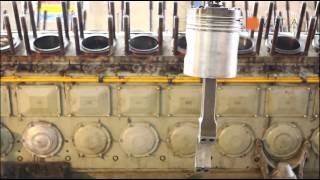 VERTEA maintenance of a 5000 HP diesel engine for railway application