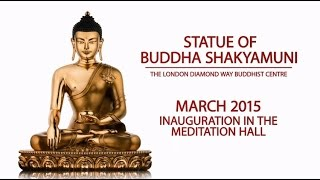 Filling our Buddha statue for London