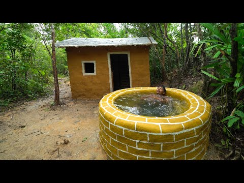 How To Build The Most Survival House And Bath Pools Underground