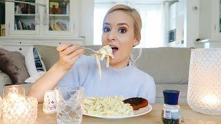 EATING SHOW: Cream Cheese Pasta!!!!!!