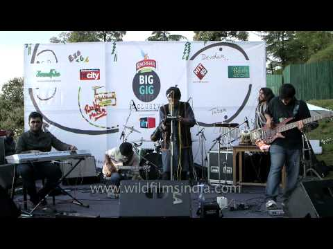 Raagleela - Musical band from Delhi performs in the Himalaya