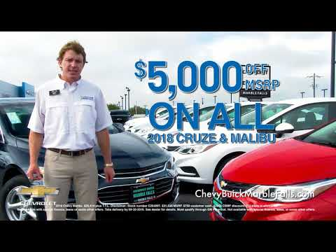 Marble Falls Chevy >> Chevy Buick Marble Falls Save On Cruze And Malibu S In September