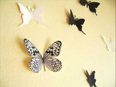 3D Paper Butterfly Wall Decor - YouTube