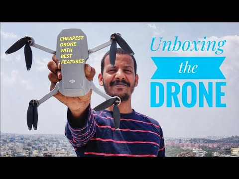 Dji Mavick Mini Drone Unboxing And Simple Videos In Telugu || How To Buy A Drone In India