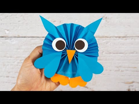 How to make the CUTEST OWL from Paper | Paper Craft for Kids | Activities for Kids