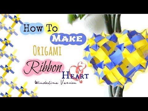 Paper/Ribbon Heart Origami Tutorial