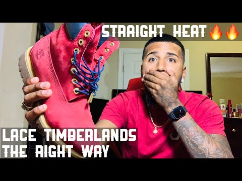 Best way to lace up shoes   How to tie up timberlands   On feet