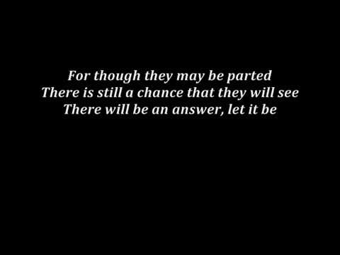 The Beatles - Let It Be (Alex Goot's cover - lyrics)