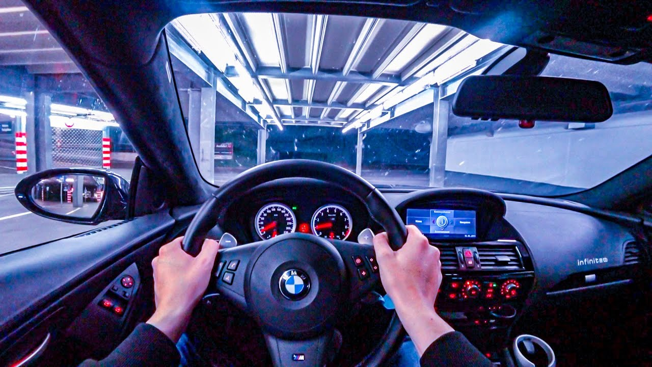 2008 BMW M6 V10 (E63) SUPERCHARGED NIGHT POV DRIVE Onboard (60FPS)