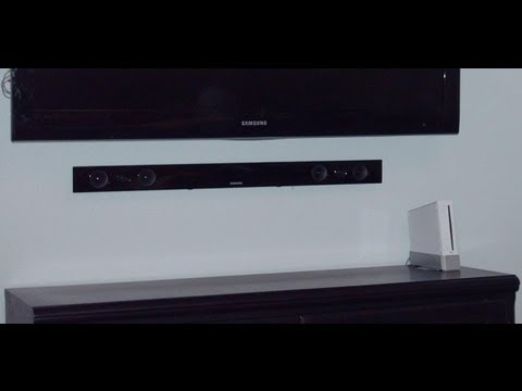 How to Install a Sound Bar - How To Install A Sound Bar - YouTube