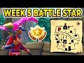 """Follow the Treasure Map Found in Snobby Shores"" Location BATTLE STAR WEEK 5 SEASON 5 FORTNITE!!!"