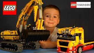 Lego Technic 8043, 8109. Рабочие Машины для детей, Игрушки Строительная техника, Экскаватор(Выпуск 84: Lego Technic 8043, 8109. Рабочие Машины для детей, Игрушки Строительная техника, Экскаватор Привет, новый..., 2014-09-30T09:32:51.000Z)