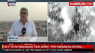 30 f 16 ile operasyon trk jetleri pkk kamplarına bomba yağdırdı haberler com