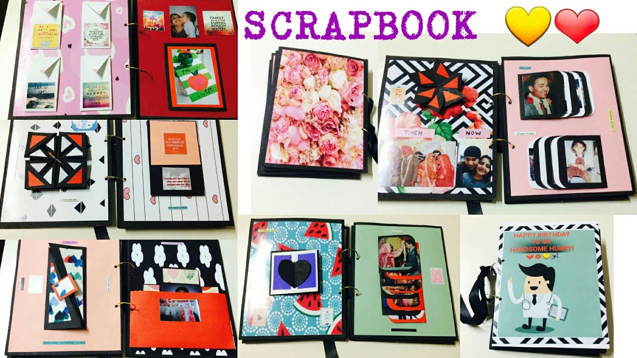 Scrapbook Tutorial Diy For Bf Gf Husband Wife Birthday Diy Crafts