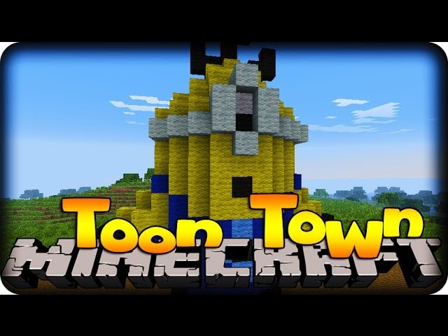 Minecraft TOON TOWN! - #5 MINION BATTLE!!! (Toon Town Mod) Travel Video