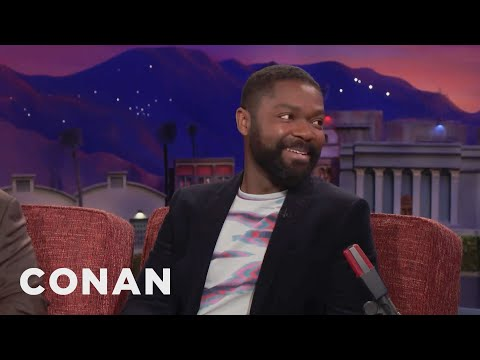 David Oyelowo's Shocking First Encounter With Charlize Theron  - CONAN on TBS