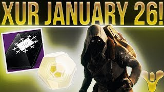Destiny 2. Xur EXOTIC LOOT & LOCATION! January 26th. Exotic Weapon, Armor, Fated Engram & More!