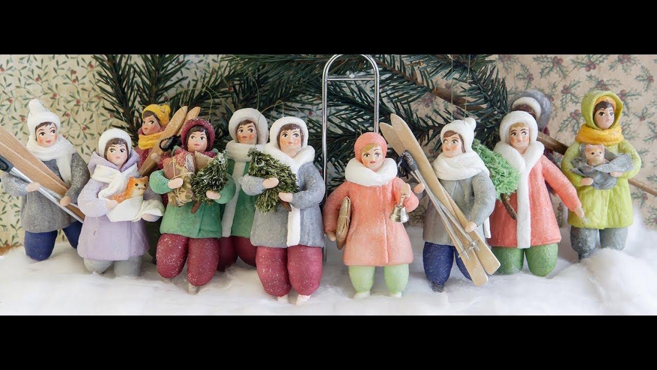 Ёлочные игрушки из ваты Вероники Подгорной, Spuncotton ...