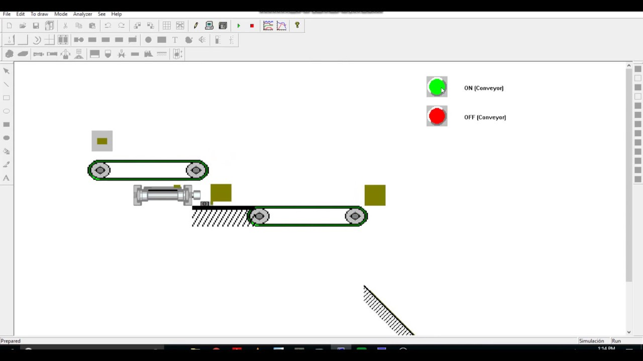 PLC S7 200 | PC Simu | Simulation of Actuator Control