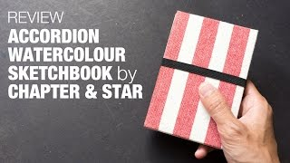 Review: Accordion Watercolor Sketchbook by Chapter & Star