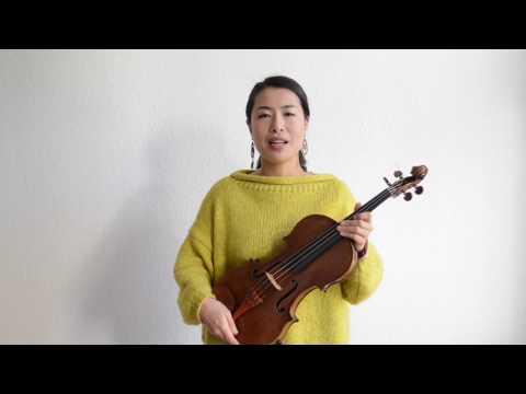 ヴァイオリンVn&ヴィオラVla入門 楽器と弓の持ち方 赤坂智子
