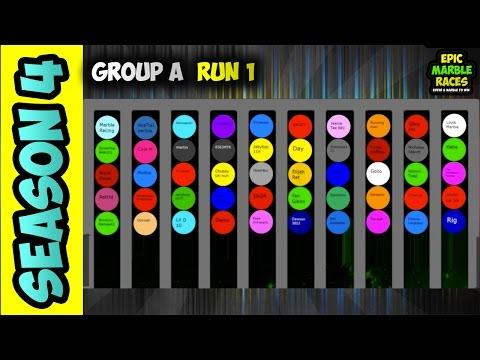 Epic Marble Race Season 4 - Group A Run 1