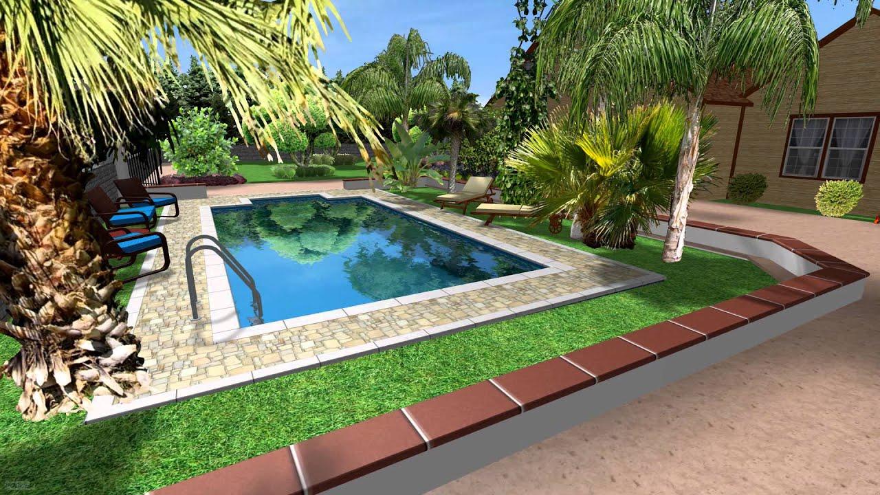 progettazione 3d piscina 4x8 youtube