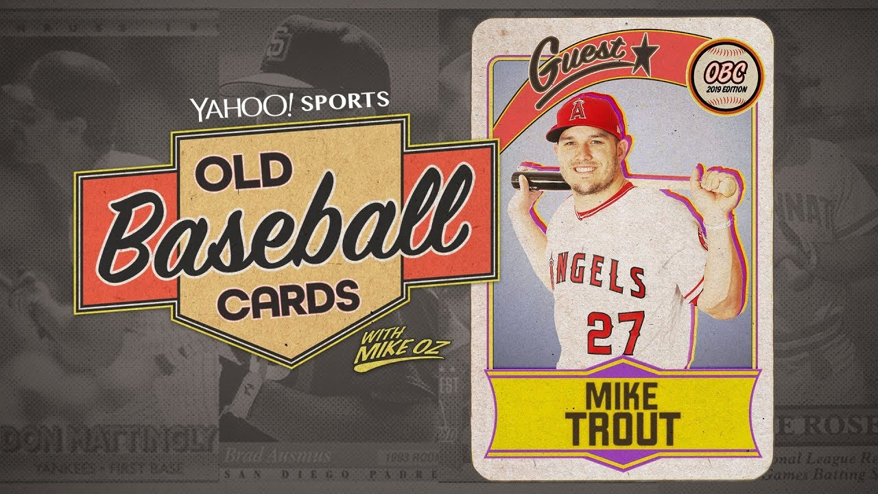 Mike Trout Opens Old Topps And Upper Deck Collections Talks Henderson Arod Old Baseball Cards