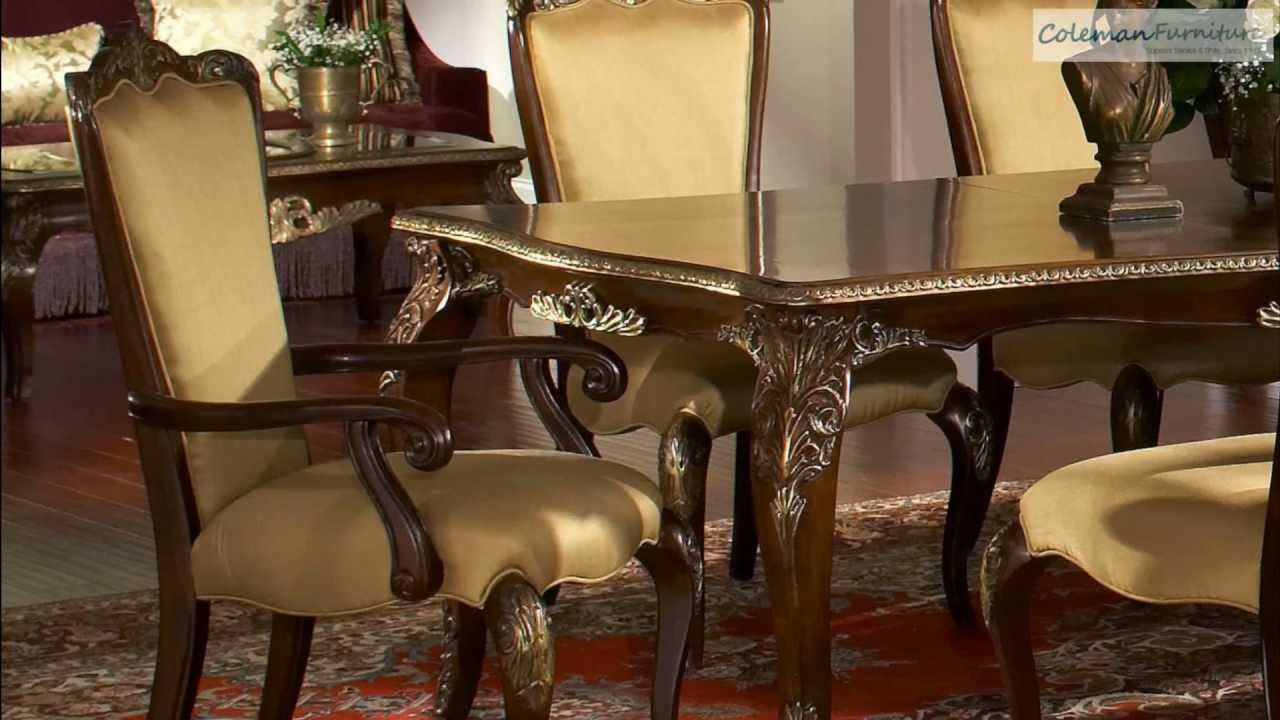 Imperial Court Dining Room Collection From Aico Furniture - YouTube