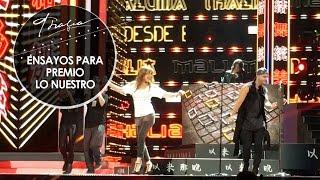 Thalia y Maluma - Desde Esa Noche (Ensayos para la presentación en Premio lo Nuestro)