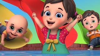 Amusement Park for Kids | Water Park Video with Surprise Eggs toys