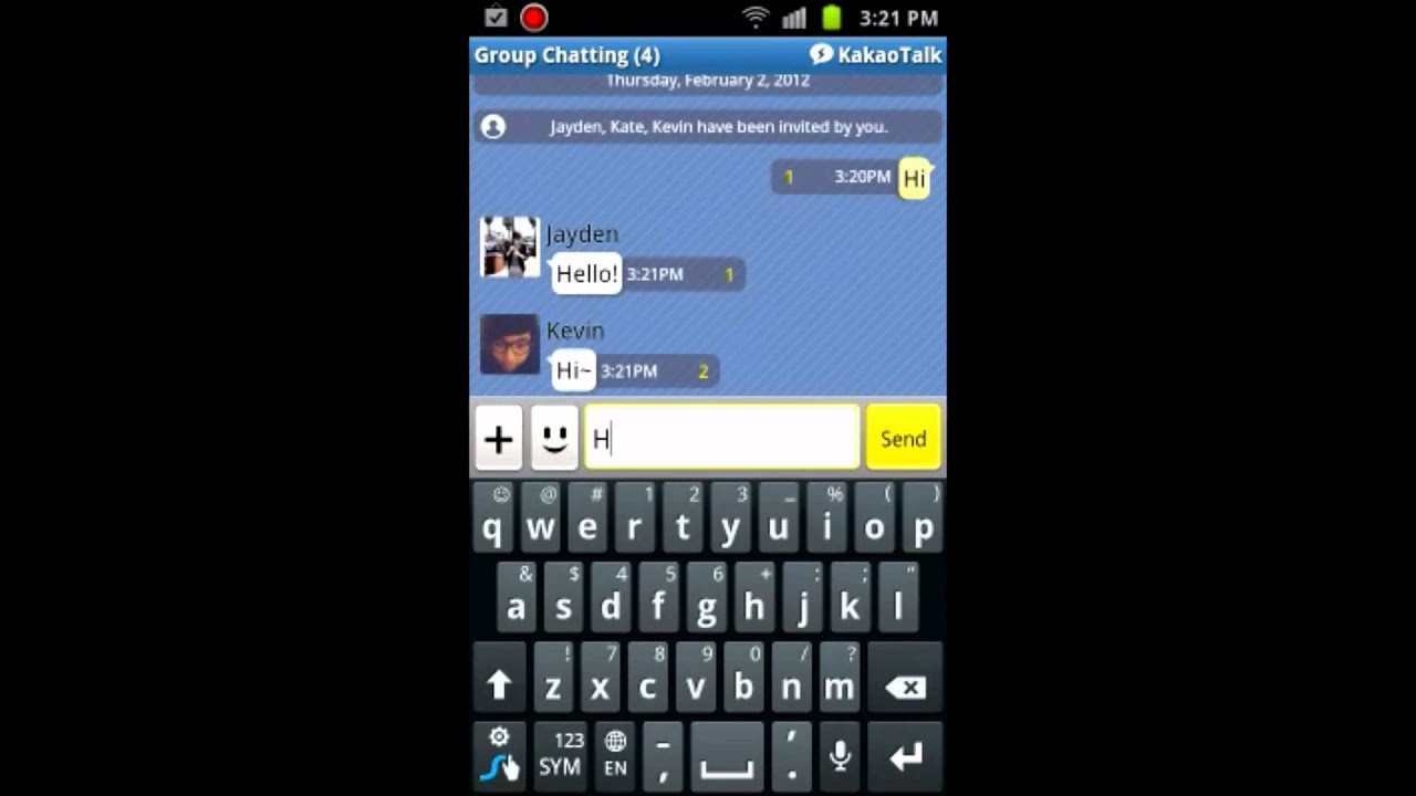 Android mobile Chat-Räume
