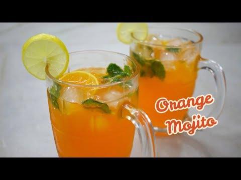 Orange Mojito   How To Make Orange Mojito   Refreshing Mocktail Drink - Orange Mojito