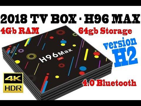 2018 Tv Box H96 MAX H2 - Ver. 2, 4gb Ram, 64 Gb, Quad Core, Bluetooth, 5ghz Wifi, Android 7.1.2